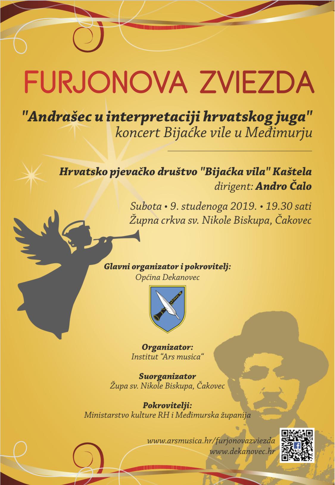 Furjonova zviezda_Koncert Bijaćke vile_Čakovec_Plakat